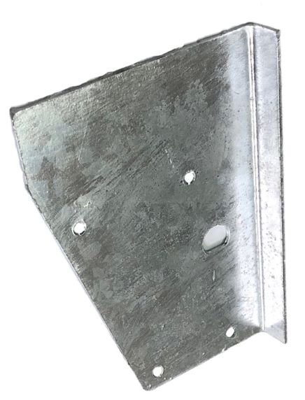 REAR TAILGATE UPPER BRACKET ON BODY - RIGHT HAND - DEFENDER GALV