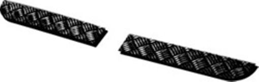 90/110 TREADPLATE BUMPER END COVERS BLACK 2MM
