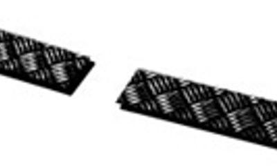 TREADPLATE BUMPER END COVERS BLACK 3MM