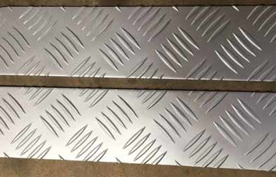 TREAD PLATE BUMPER END COVERS SATIN ANODISED FINISH 3MM