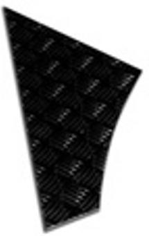 SAFARI REAR LOWER QTR-3MM (BLACK) O/S