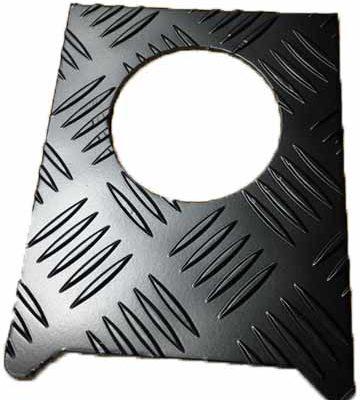 FUEL FILLER T/PLATE COVER BLACK 3MM