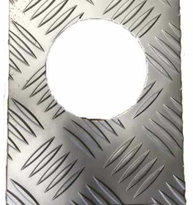 FUEL FILLER T/PLATE COVER SATIN ANODISED FINISH 3MM