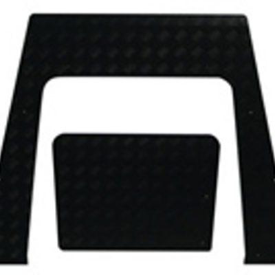 DEFENDER 2 PIECE BONNET PROTECTOR(3MM BLACK)