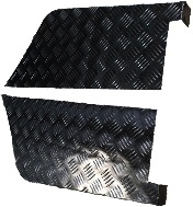 "109"" REAR WING BLACK CHEQUER CORNER PROTECTORS - 3MM"