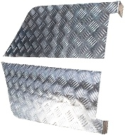"109"" REAR WING SATIN CHEQUER CORNER PROTECTORS - 3MM"