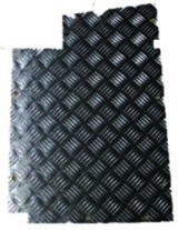 SER 3 TREAD PLATE FLOOR BLACK