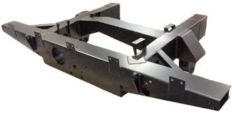 """109""""  REAR 1/4 CHASSIS WITH EXT INC SPRING HANGERS (LR56) HEAVY DUTY"""