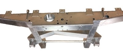 """109""""  REAR 1/4 CHASSIS WITH EXT INC SPRING HANGERS (LR56) HEAVY DUTY GALVANISED"""