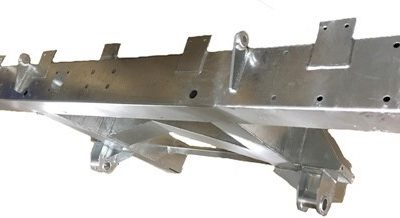 "109""  REAR 1/4 CHASSIS WITH EXT INC SPRING HANGERS (LR56) GALVANISED"