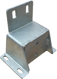 110 OUTRIGGER BODY MOUNT WITH BACKING PLATE GALV