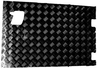 REAR SAFARI DOOR CHEQUER PLATE COVER (EXTERNAL) BLACK