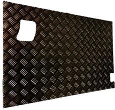 SERIES REAR SAFARI DOOR CHEQUER PLATE COVER BLACK (EXTERNAL)