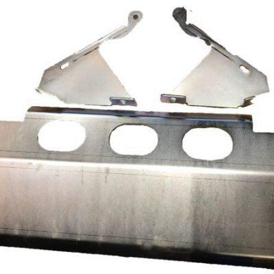 DEFENDER ZINC PLATED BOLT ON STEERING GUARD (INSIDE FITTING)