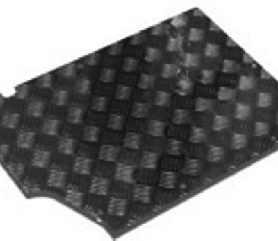 90/110 FRONT FLOOR TREADPLATE - BLACK 200TDI