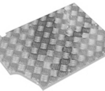 90/110 FRONT FLOOR TREADPLATE -3MM SATIN ANODISED 200TDI