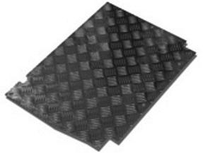 90 FRONT FLOOR TREADPLATE 3MM BLACK 300 TDI & V8
