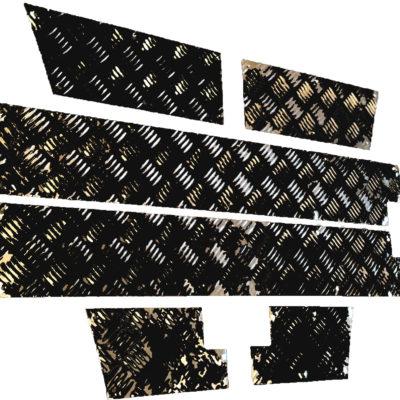 90 BOTTOM TRIM KIT CHEQUER - 3MM BLACK