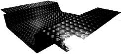 TD5 90 LOAD AREA (FLOOR & SIDES) - 3MM BLACK
