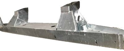 110 TD5 HEAVY DUTY GALVANISED REAR CROSSMEMBER WITH SHORT EXT 3MM