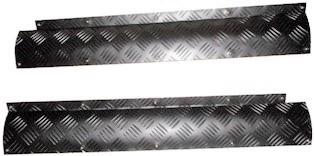DEFENDER TREADPLATE FRONT DOOR RADIUS COVERS - BLACK