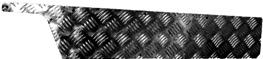 DEFENDER FRONT DOOR CHEQUER KICK PLATE -  3MM BLACK