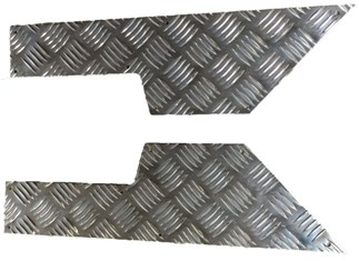 2ND ROW DOOR CARD CHEQUER KICK PLATE 3MM