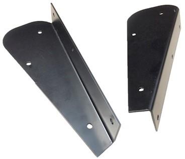 REAR MUDFLAP BRACKETS (BLACK POWDER COATED) PAIR