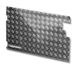TREAD PLATE REAR DOOR CARCASS LATE 90- 3MM(NO WIPER CUT OUT)