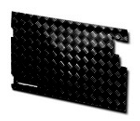 TREAD PLATE REAR DOOR CARCASS LATE 90- BLACK(NO WIPER CUT OU