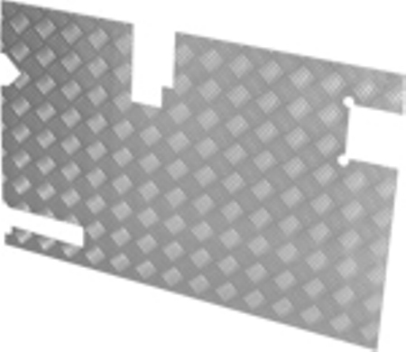 TREAD PLATE REAR DOOR CARCASS (DEF 98) 130MM WIPER C/O) 3MM