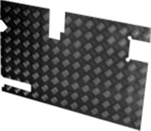 TREAD PLATE REAR DOOR CARCASS( LATE 90)- BLACK 3MM (130MM WI