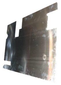 TREAD PLATE REAR DOOR CARCASS (DEF 98) 130MM WIPER C/O) PLAIN ALLOY