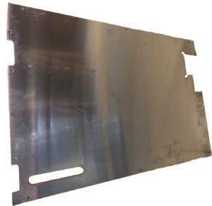 TREAD PLATE DOOR CARCASS( EARLY) 90MM WIPER CUTOUT PLAIN ALLOY