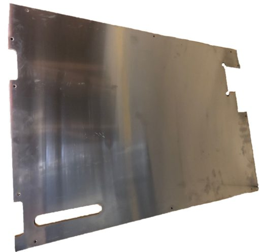 TREAD PLATE DOOR CARCASS( EARLY) 90MM WIPER CUTOUT PLAIN ALLOY