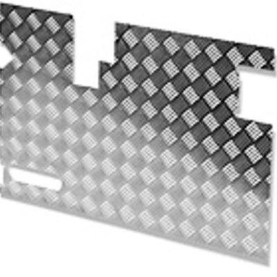 TREAD PLATE DOOR CARCASS(EARLY) 90MM WIPERCUTOUT-SATIN ANODISED - 3MM