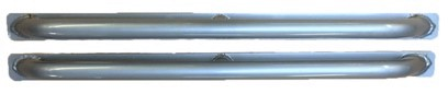 DEFENDER 90 SIDE PROTECTION BARS (DOORS ONLY) SILVER