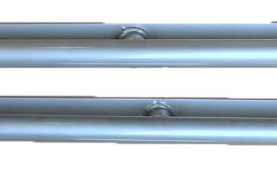 DEFENDER 90 SIDE PROTECTION BARS (REAR WINGS) SILVER