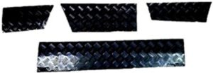DISCOVERY 1 SKIRTING CHEQUER PLATE 3MM BLACK