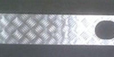 TD5 REAR CROSS MEMBER COVER WITH TOW HOLES - 3MM