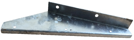 EXTENDED (WIDE WHEEL) MUDFLAP BRACKET FRONT R/H GALV