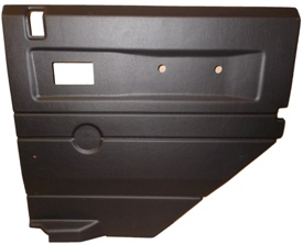 R/H 2ND ROW DOOR CASE-PUSH BUTTON HANDLE-BLACK ELEC WINDOWS