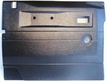 L/H FRONT DOOR CASE-PUSH BUTTON HANDLE-BLACK-DEF
