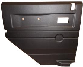 L/H 2ND ROW DOOR CASE-PUSH BUTTON HANDLE-BLACK ELEC WINDOWS