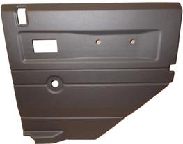 R/H 2ND ROW DOOR CASE-PUSH BUTTON HANDLE-GREY