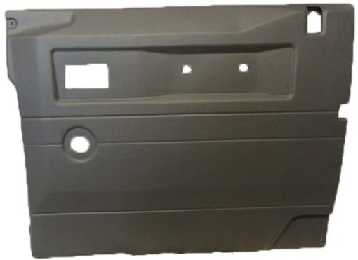R/H FRONT DOOR CASE LIGHT GREY (LOY) FOR LATE DEFENDERS WITH PUSH BUTTON HANDLE