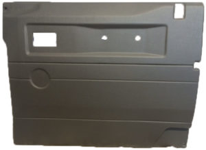 R/H FRONT DOOR CASE LIGHT GREY (LOY) FOR LATE DEFENDERS WITH PUSH BUTTON HANDLE - ELECTRIC WINDOW