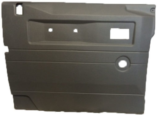 L/H FRONT DOOR CASE LIGHT GREY (LOY) FOR LATE DEFENDERS WITH PUSH BUTTON HANDLE