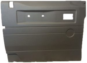 L/H FRONT DOOR CASE LIGHT GREY (LOY) FOR LATE DEFENDERS WITH PUSH BUTTON HANDLE - ELECTRIC WINDOW