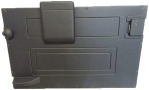 DEFENDER REAR DOOR CASE - BLACK >84-2002